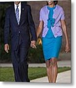 President And First Lady Metal Print by JP Tripp