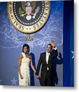 President And Michelle Obama Metal Print by had J McNeeley