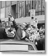 President Nixon Pointing At The Crowd Metal Print by Everett