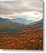 Presidential Range In Autumn Watercolor Metal Print by Brenda Jacobs