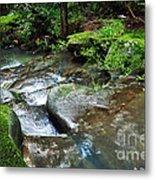 Pretty Green Creek Metal Print by Kaye Menner