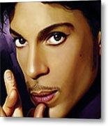Prince Artwork Metal Print by Sheraz A