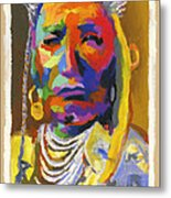 Proud Native American Metal Print by Stephen Anderson