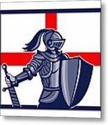 Proud To Be English Happy St George Day Card Metal Print by Aloysius Patrimonio