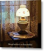Proverbs 24 3 Through Wisdom Is An House Builded Metal Print by Susan Savad