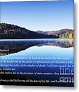 Psalm 23 Metal Print by Thomas R Fletcher