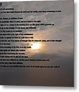 Psalm 90 Metal Print by Bill Cannon