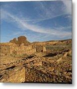 Pueblo Bonito Walls And Rooms Metal Print by Feva  Fotos