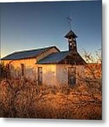 Pueblo Church Metal Print by Peter Tellone