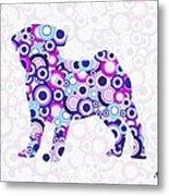 Pug - Animal Art Metal Print by Anastasiya Malakhova