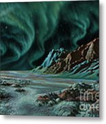 Pulsar Planets I Metal Print by Lynette Cook