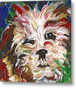 Puppy Spirit 101 Metal Print by Linda Mears