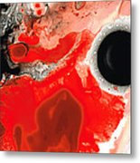 Pure Passion - Red And Black Art Painting Metal Print by Sharon Cummings