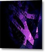 Purple Abstract Geometric Metal Print by Mario Perez