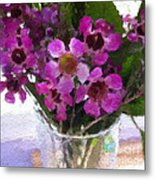 Purple Flowers Metal Print by Linda Woods