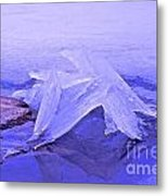 Purple Ice Metal Print by Randi Shenkman