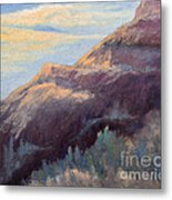 Purple Mountain Metal Print by Arlene Baller