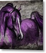 Purple One Metal Print by Angel  Tarantella
