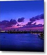 Purple Sunset Metal Print by Michael Guirguis