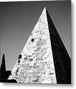 Pyramid Of Cestius Metal Print by Fabrizio Troiani
