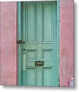 Quaint Little Door In The Quarter Metal Print by Brenda Bryant