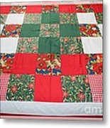 Quilt Christmas Blocks Metal Print by Barbara Griffin