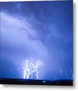 Rabbit Mountain Lightning Strikes Boulder County Co Metal Print by James BO  Insogna