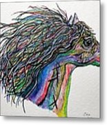 Racing The Wind ... A Story Painting Metal Print by Eloise Schneider