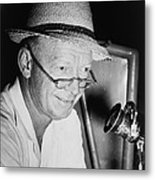 Radio Broadcaster Red Barber 1955 Metal Print by Mountain Dreams