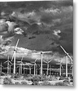Rage Of The Wind Palm Springs Metal Print by William Dey