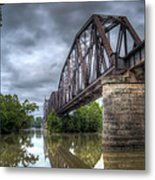 Railroad Bridge Metal Print by James Barber