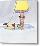 Rain Boots Metal Print by Christy Beckwith