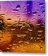 Rain On Windshield Metal Print by J Riley Johnson