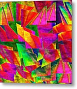 Rainbow Bliss 2 - Twisted - Painterly H Metal Print by Andee Design