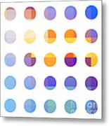Rainbow Dots  Metal Print by Pixel Chimp