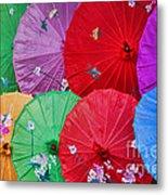 Rainbow Of Parasols   Metal Print by Alexandra Jordankova