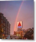 Rainbow Over Fenway Metal Print by Paul Treseler