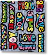 Rainbow Text Metal Print by Tim Gainey