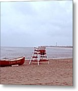Rainy Day In Cape May Metal Print by Bill Cannon