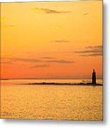 Ram Island Light Casco Bay Maine Metal Print by Diane Diederich