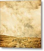 Ranch Gate Metal Print by Edward Fielding