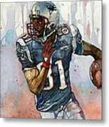 Randy Moss Metal Print by Michael  Pattison