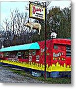 Randy's Roadside Bar-b-que Metal Print by MJ Olsen