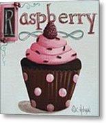 Raspberry Chocolate Cupcake Metal Print by Catherine Holman