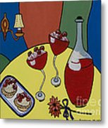 Raspberry Wine Metal Print by Barbara McMahon
