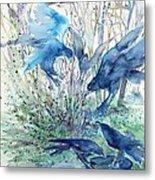 Ravens Wood Metal Print by Trudi Doyle