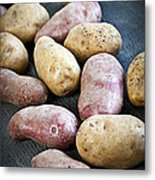 Raw Potatoes Metal Print by Elena Elisseeva