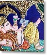 Reading Ganesha Metal Print by Jayashree