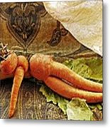 Reclining Nude Carrot Metal Print by Sarah Loft