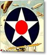 Recruiting Poster - Ww1 - Air Service Metal Print by Benjamin Yeager